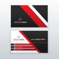 cartão profissional vermelho e preto para sua marca