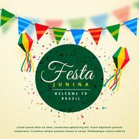 Fondo de vacaciones de fiesta junina del festival brasileño