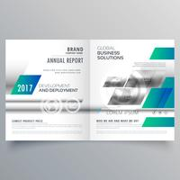 modern business bifold brochure design template