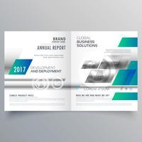 modèle de conception brochure commerciale bifold moderne