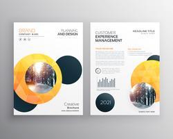 Diseño de plantilla de portada de folleto de negocios de círculo en tamaño A4