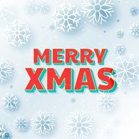 feliz navidad hermoso saludo fondo con copos de nieve