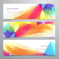 abstract funky banners set of three