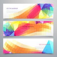 abstracte funky bannersreeks van drie