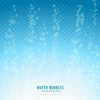 water bubbels op transparante blauwe achtergrond