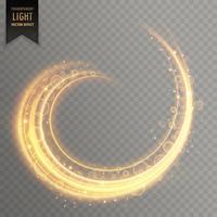 efeito de trilha redemoinho de luz transparente com brilhos