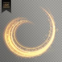 genomskinlig ljus virvlappspåverkan med gnistar