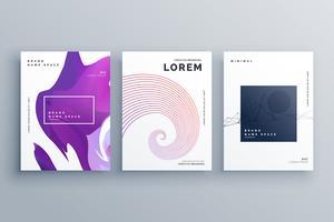 modelo de design de brochura criativa em estilo minimalista de tamanho A4
