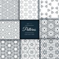 Pack de patrones abstractos en estilo floral.