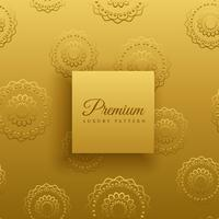fundo de decoração de mandala de padrão dourado