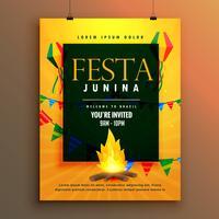 festa Junina posterontwerp voor Braziliaanse vakantie