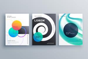 modelo de folheto para o seu negócio ou design da página de capa
