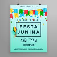 cartaz do festival para o junina do festa