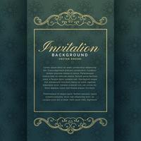Invitación premium de diseño de plantilla con decoración floral.
