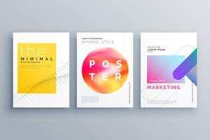 Plantilla de diseño de folleto o página de portada mínima creativa