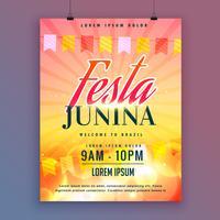 festa junina invitation card design vector