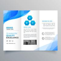 abstract blue brochure design template design