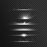 fundo de vector de efeito de luz branca transparente raia