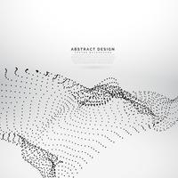 Partículas abstractas de malla sobre fondo blanco