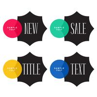 banners de venda promocional com espaço de texto