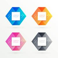 hexagonal banners set with text space