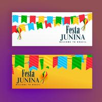 festa junina festival banners set of two
