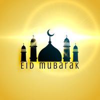 bellissimo design della moschea per il saluto del festival di eid