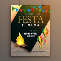 festa junina party poster design holiday greeting