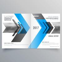 Diseño de plantilla de folleto de negocios modernos en estilo bifold