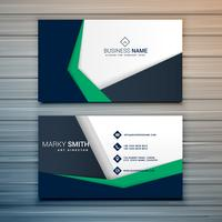 company business card design with abstract geometric shapes