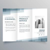 progettazione di modello astratto tri-fold di affari