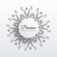 Fondo de diseño elegante mandala floral