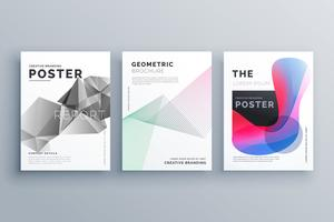 abstract minimal brochure design template size A4 in lines, geom