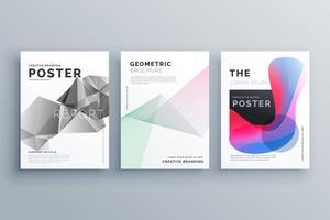modèle de conception de brochure abstrait minimal taille A4 en lignes, geom