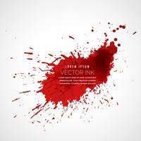red ink splatter vector