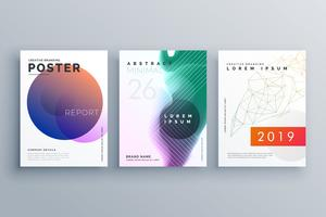 Plantillas de folletos en estilo minimalista para presentación de negocios.
