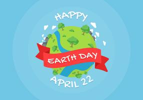 Earth Day Background Illustration vector