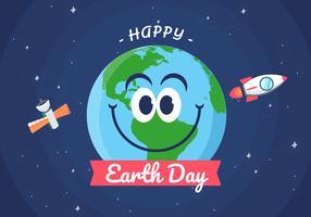 Ilustração do fundo do Dia da Terra