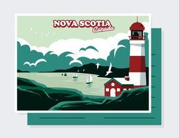 Vector de la postal de Canadá