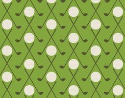 Padrão de golfe vintage vetor