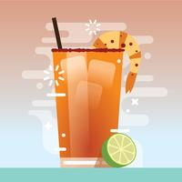 Einfache Michelada-Illustration