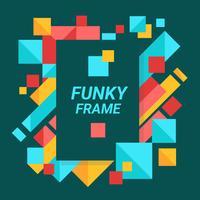 Color Full Funky Frame Vector