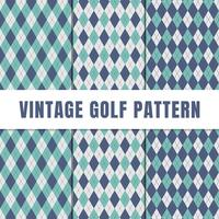 Seamless Argyle Pattern Collection