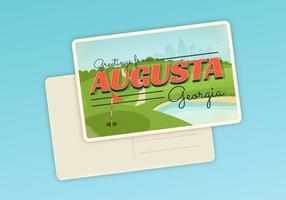 Augusta Georgia briefkaart typografie