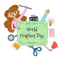 World Graphics Day Background med designelement