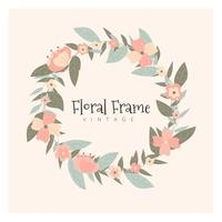 Cadre Floral Vintage