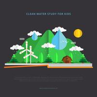 Clean Water Advocacy Illustration with Papercraft Style