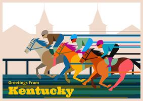 Kentucky Derby Postcard Illustration