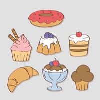 Bonbons et bonbons dessinés à la main