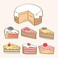 Hand Drawn Sweets And Candy vector